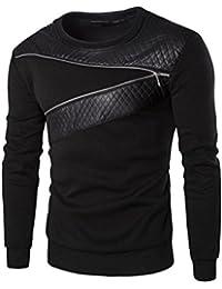 43cb9431cde3 Covermason Blousons Manteaux Hommes Hiver Chaud épissage Sweatshirt Manteau Veste  Cuir Outwear Pull
