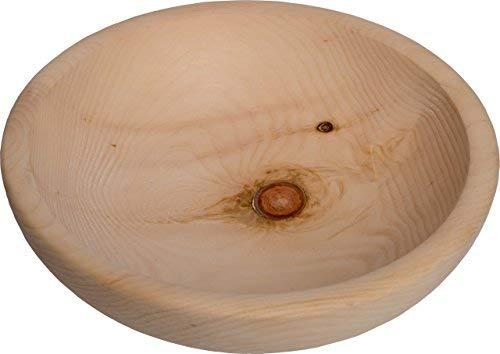 Holz-Schüssel aus Zirbe ∅ 25 cm: ideal verwendbar als Obst-Schüssel, Popcorn oder Chips-Schüssel | Zirben-Schale mit Holz-Oberfläche Natur