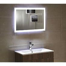 Dr. Fleischmann Badspiegel LED Spiegel GS084N Mit Beleuchtung Durch  Satinierte Lichtflächen Badezimmerspiegel (80 X Nice Ideas