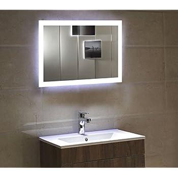 LED Badezimmerspiegel Badspiegel Wandspiegel Lichtspiegel 80x60 ...