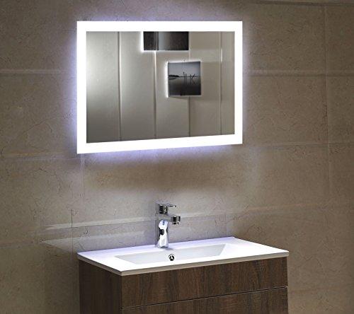 Badspiegel mit LED Beleuchtung - satinierte Lichtflächen 120 x 70 cm