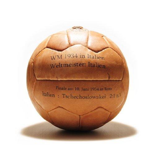 WM Fußball Retro - LEDERBALL 1934 mit Aufdruck -
