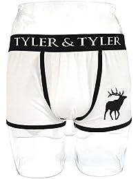 Tyler & Tyler - Boxer Homme Blanc, Cerf Noir