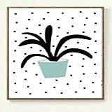 jzxjzx Moderne minimalistische ölgemälde abstrakte botanische Blume rahmenlose dekorative malerei Wohnzimmer Sofa Hintergrund malerei Kern malerei 1 50 * 70 cm