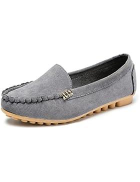 Zapatos de Ante con Tira Para Mujer, ❤️ Ba Zha HEI Zapatos Planos Cómodos de Color Sólido Para Mujeres Sandalias...
