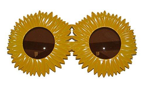 üm Brille - Sonnenblumen Flower Power Musik Schlagermove, Gelb (Kuba-kostüm Für Kinder)