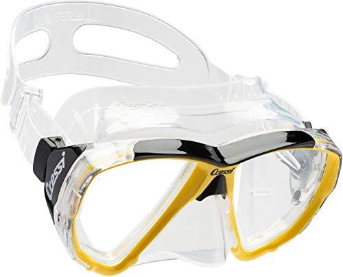 Cressi - Masque de plongée Sous Marine pour Adulte - Big Eyes - Jaune (Transparent/Jaune) - Taille Unique
