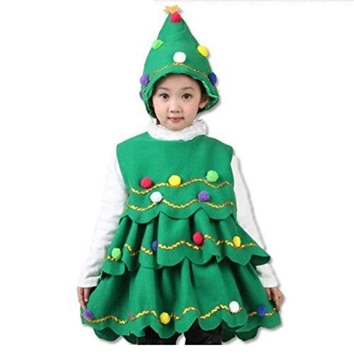 Unbekannt Kind Prestigious Womens Weihnachtsmann Helfer Green Holiday Elf Weihnachtskostüm Süßes Kleid Machen Sie Den Ganzen Weg Erwachsen Jingle,100cm - Green Holiday Kleid