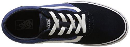 Vans Milton - Scarpe da Ginnastica Basse Bambino, Blu (suede Canvas/navy/stv Navy), 31.5 EU Blu (suede Canvas/navy/stv Navy)