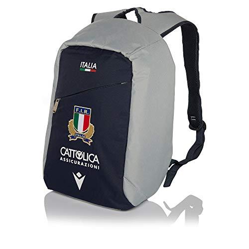 Macron Fir M19 6nt, Zainetto della Federazione Italiana Rugby. Misure: 34x48x13 Cm. capacità: 21, 2 Litri. Unisex - Adulto, Blue, TU