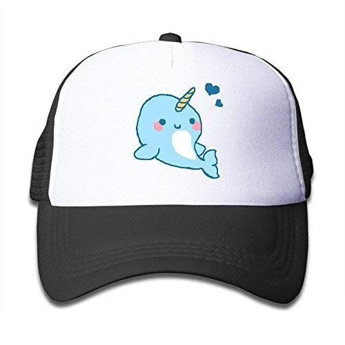 tgyew Personality Caps Hats Baby Narwhals Graphic Print Kids Starter Mesh Snapback