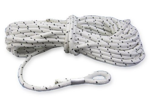 50 m Ankerleine 8 mm Polyester mit Nylonkausche