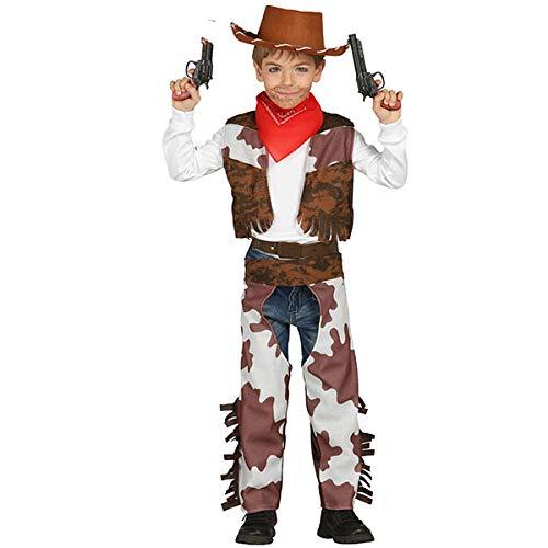 Guirca Costume da Cowboy Bambino 7/9 Anni, Colore Marrone e Bianco, 7-9, 85685