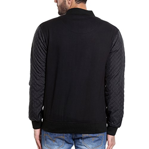 Campus Sutra Men's Plain Jacket (AZW17_JKVARLDR_M_PLN_BL_AZ_L)