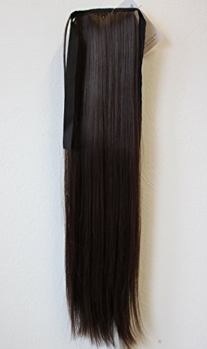 PRETTYSHOP Haarteil hairpiece Zopf Pferdeschwanz Haarverlängerung 60cm glatt diverse Farben HC8
