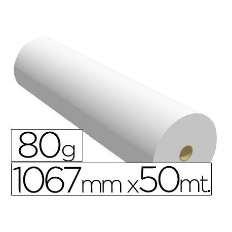 Navigator 1067X50 80 - Papel reprografía para plotter, 1067 mm x 50 m