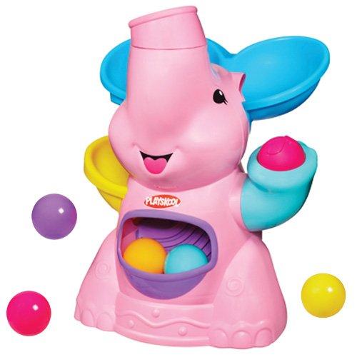 hasbro-playskool-37054148-tromba-per-palline-a-forma-di-elefante-colore-rosa