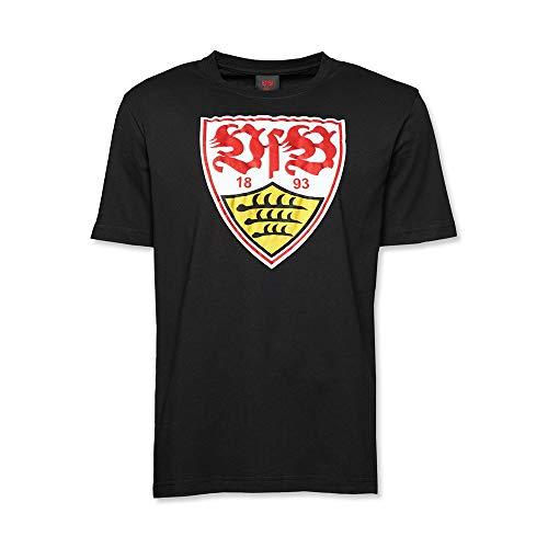 VFB STUTTGART T-Shirt schwarz Wappen - L - Wappen Schwarzes T-shirt