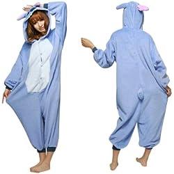Keral Kigurumi Pijamas Adulto Anime Cosplay de Halloween Traje Outfit_Stitch_XL