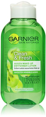 Garnier Clean & Fresh Augen Make-Up Entferner, 1er Pack (1 x 125 ml)