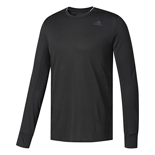 adidas Herren Supernova Longsleeve, Black, L (Sleeve Long Top Supernova Adidas)
