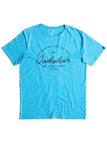 Bonnie Blue Stoffen (Quiksilver Herren herobay T-Shirt Medium Blau - Bonnie Blue)