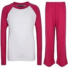 A2Z 4 Kids« Kids Girls Boys PJs Plain Color Stylish Color Cotrast Pyjamas Set New Age 5 6 7 8 9 10 11 12 13 Years