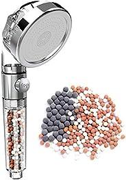 Rovtop Filtration Duschkopf Handbrause Hochdruck Wassersparend 3 Modi mit lonenfilter und Kalkfilter für Niede