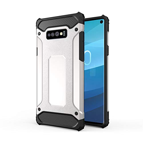 Forhouse Hülle Durable Protective Case Hülle, Thin Anti-Scratch Skin Back Hülle Full Cover für Samsung Galaxy S10 Lite - Silver