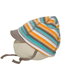 JACKY/Neugeborenen-/Schildmütze 'SAFARI'-311381-ringel-braun/100% Baumwolle, Größe:50