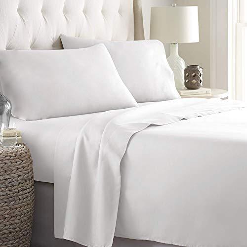 Lara morada set completo letto lenzuola made in italy 100% cotone tinta unita disponibile in 17 colori (bianco, matrimoniale 2p)