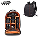 SMILEDRIVE® Waterproof DSLR Backpack Camera Bag, Lens Accessories Carry Case for Nikon, Canon