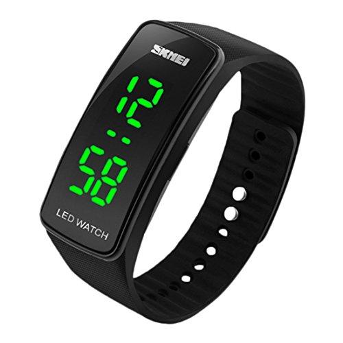 Tactil digital Relojes de Pulsera - SKMEI Hombres Mujeres Silicona LED deporte manera pulsera tactil digital reloj de pulsera (negro)