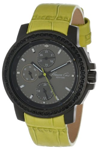 kenneth-cole-new-york-womens-kc2808-dress-sport-white-multi-function-dial-stone-green-strap-watch