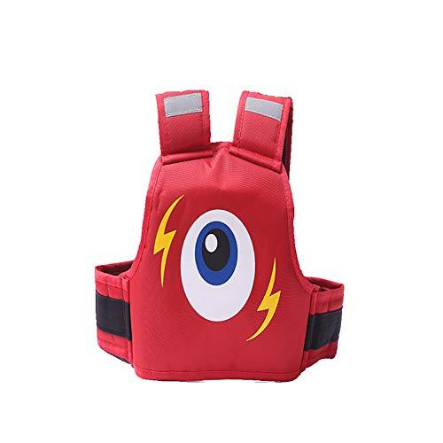 Huiiv Motorrad Sicherheitsgurt Cartoon Kindergeschirr Stil Babygurte Fallschutz,Red