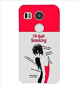 Fuson Smoking Girl Back Case Cover for LG NEXUS 5X - D3744