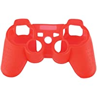 Caso Gamepad per PS3 - SODIAL(R) Super Grip silicone Premium per Sony Play station 3 PS3 Remote (rosso)