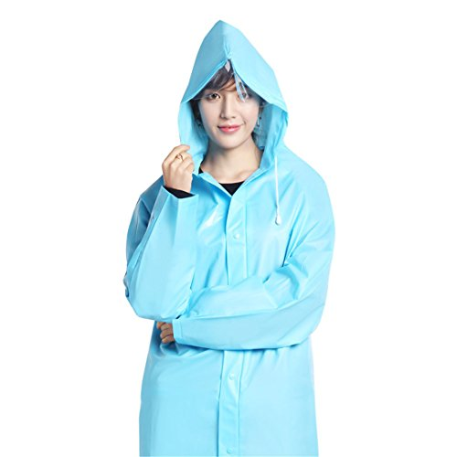 CAI&HONG-Umbrella CCC Transparente Regenjacke Frosted Transparent Wander Anzug Outdoor, A, L Frosted Dots