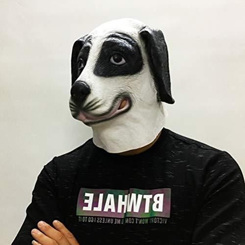 Underdog Kostüm - Amosfun 1Pc Novelty Hundekopf Maske Latex Super Bowl Underdog für Cosplay Halloween Kostüme