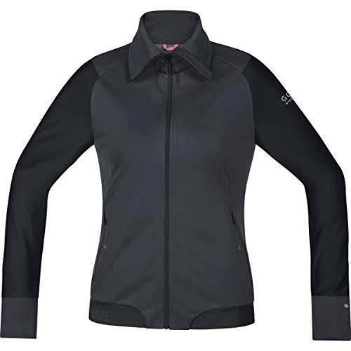GORE BIKE WEAR Damen Warme Soft Shell Mountainbike-Jacke, Stretch, GORE WINDSTOPPER, POWER-TRAIL LADY WS SO Jacket, Größe: 34, Braun/Schwarz, JWSFLO (Womens Cycle Jacken)