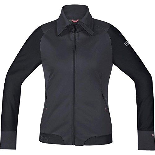 Gore BIKE WEAR Cálida Chaqueta Mountainbike Soft Shell, Mujer, Stretch, WINDSTOPPER, POWER-TRAIL LADY Jacket, Talla 40, Marrón/Negro, JWSFLO329905