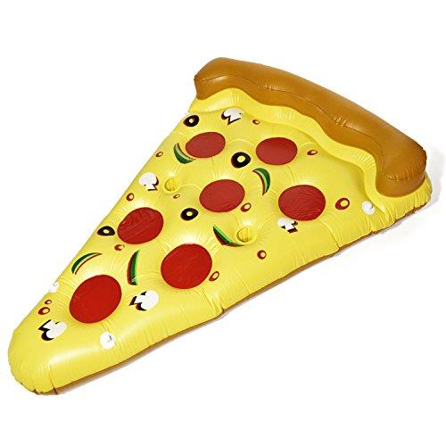 Pizza Luftmatratze Aufblasbare Pizzastück Matratze XXL Badeinsel Schwimminsel Schwimmreifen 180x140cm
