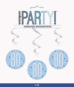 Unique Party- Adornos, Color blue & silver (83803)