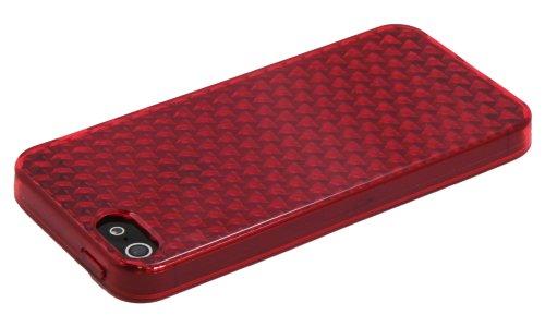 Luxburg® In-Colour Design Schutzhülle für Apple iPhone 5S / 5 in Farbe Türkis Blau / Hellblau Hülle Case aus Silikon Rubin Rot