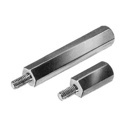 Thomafluid Distanzbolzen aus Messing - sechskant, Außengewinde: M3, P2: 6 mm, L: 10 mm, 25 Stück