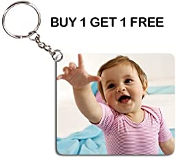 Sprinklecart Personalized Photo Printed Keychain for All Occassions (White, SC-KEYPROMO)