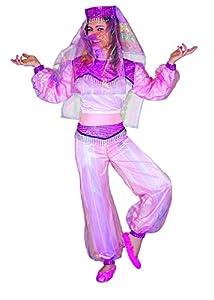 FIORI PAOLO 57017-Princesa árabe de las Mil y una noches, disfraz de niña 7-9 anni Rosa