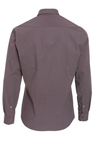 Hatico -  Camicia Casual  - Classico  - Uomo druck bordeaux