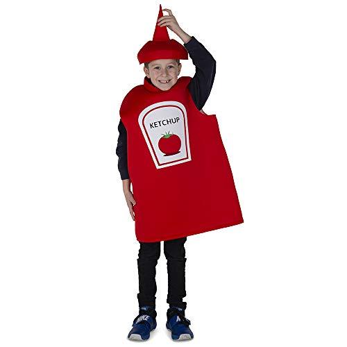 Dress Up America Ketchup Bottle Costume Accesorios de Disfraz, Rojo, Small Unisex Adulto