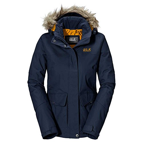 Jack Wolfskin Womens Nova Scotia Waterproof Coat Coat Blue 1105261 Night Blue